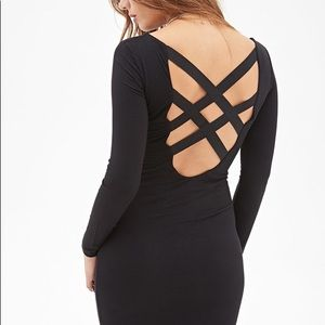 Crisscross back bodycon dress
